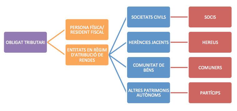 Esquema procés declaració del IRPF a Andorra 2021 per a l'obligat tributari