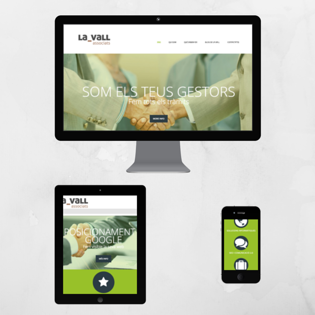 Website design adapted for mobile devices (Web Responsive)