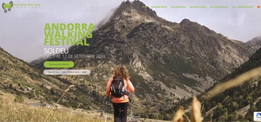Disseny web Andorra Walkinf Festival